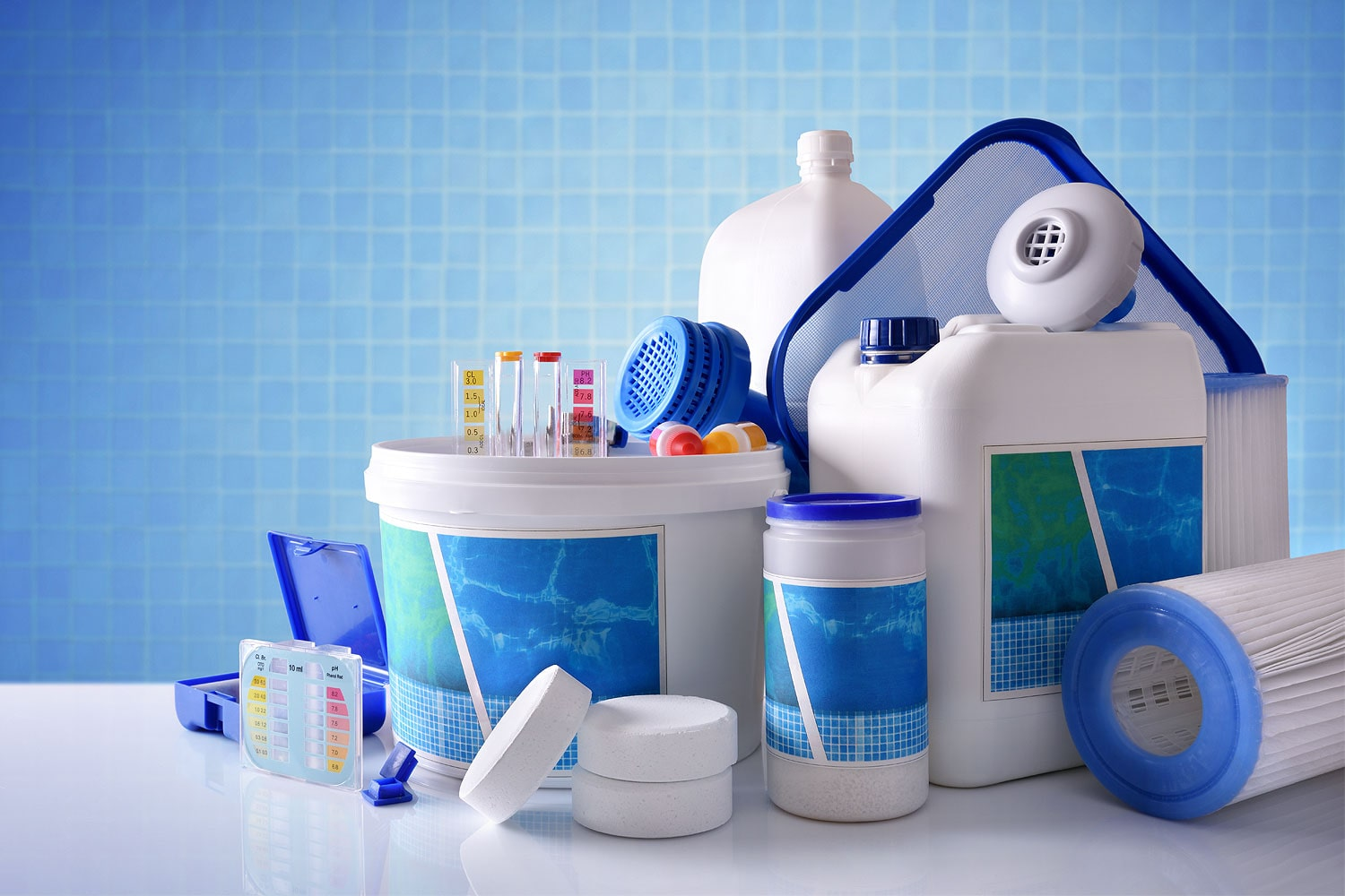 Storing Pool Chemicals Image