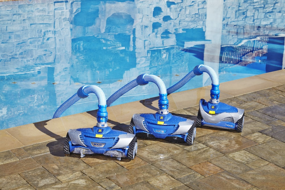 MX8 Elite Suction Pool Cleaner Bundle Photography by pool
