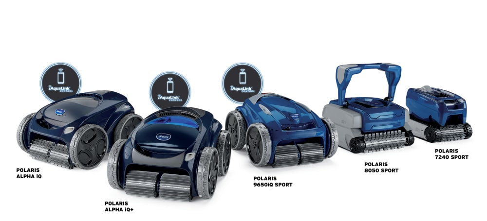 Polaris Robotic Pool Cleaners Product Line Up Image