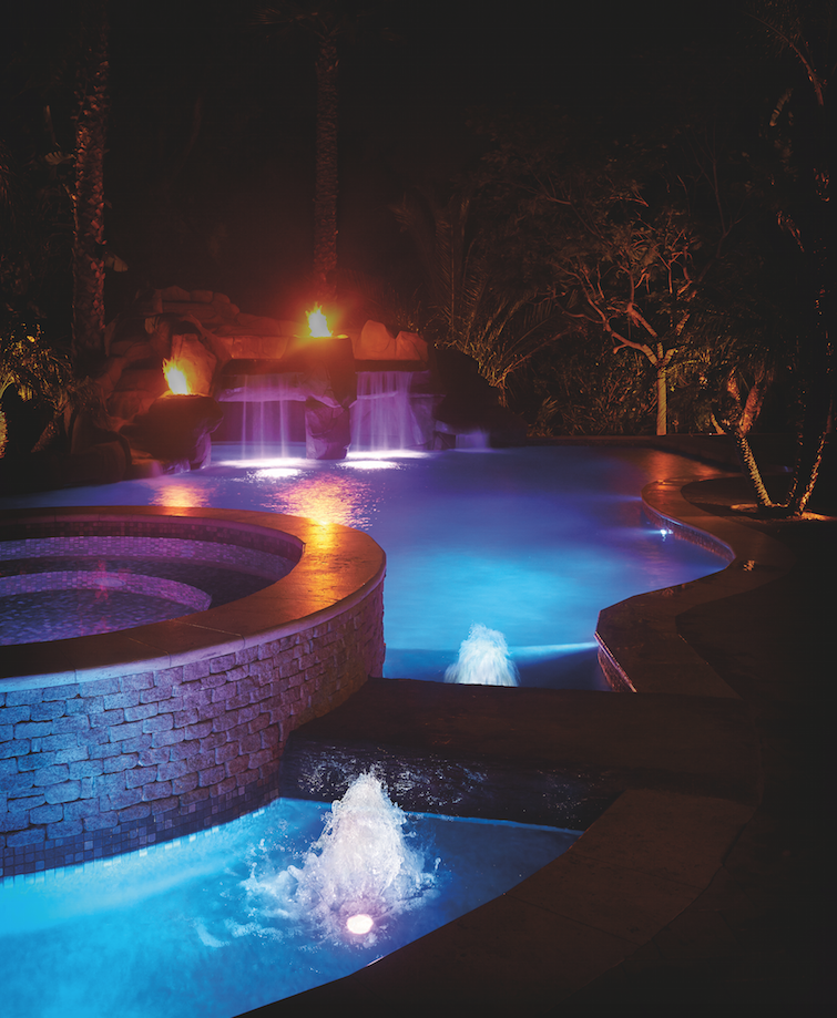 How to add pool lights