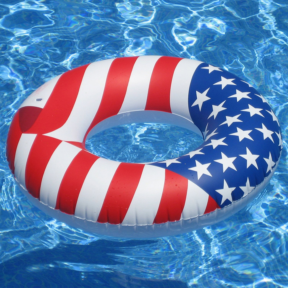 Patriotic Red, White and blue Pool Float